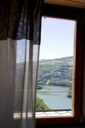 vue de la chambre du lac